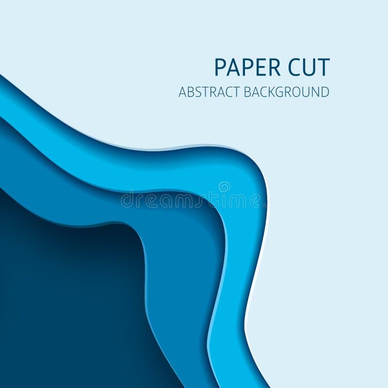 Fondo tagliato di carta dell'estratto di vettore illustrazione di stock