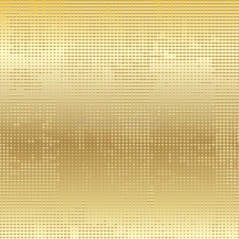 Fondo techno strutturato dorato illustrazione di stock