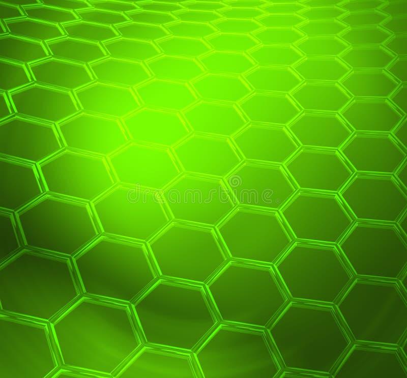 Fondo tecnico o scientifico astratto brillante verde illustrazione di stock