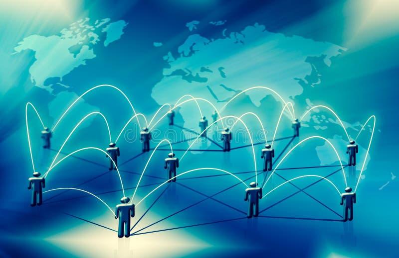 Fondo tecnológico, concepto de Internet del negocio global Conexión a internet, extracto de la ciencia y tecnología libre illustration