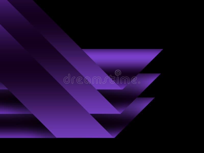 Fondo tecnol?gico geom?trico violeta Dise?o del folleto y de la disposici?n de la plantilla stock de ilustración