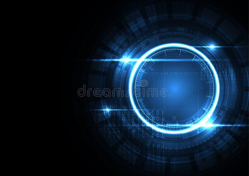 Fondo tecnológico v del extracto del concepto del interfaz de la encripción ilustración del vector