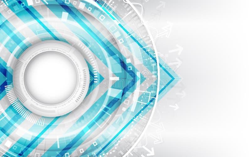 Fondo tecnol?gico futurista del extracto con los diversos elementos de la tecnolog?a ilustración del vector