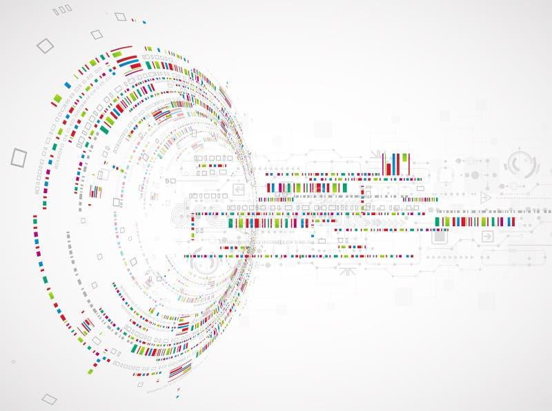 Download Fondo Tecnologico Astratto Con Vario Ele Tecnologico Illustrazione di Stock - Illustrazione di industriale, interattivo: 56893007