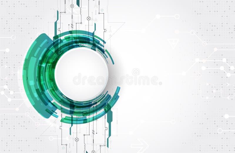 Fondo tecnologico astratto del cerchio di tema Vettore illustrazione di stock