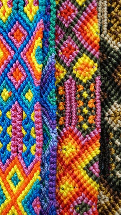Fondo tejido a mano de la textura del modelo fotos de archivo