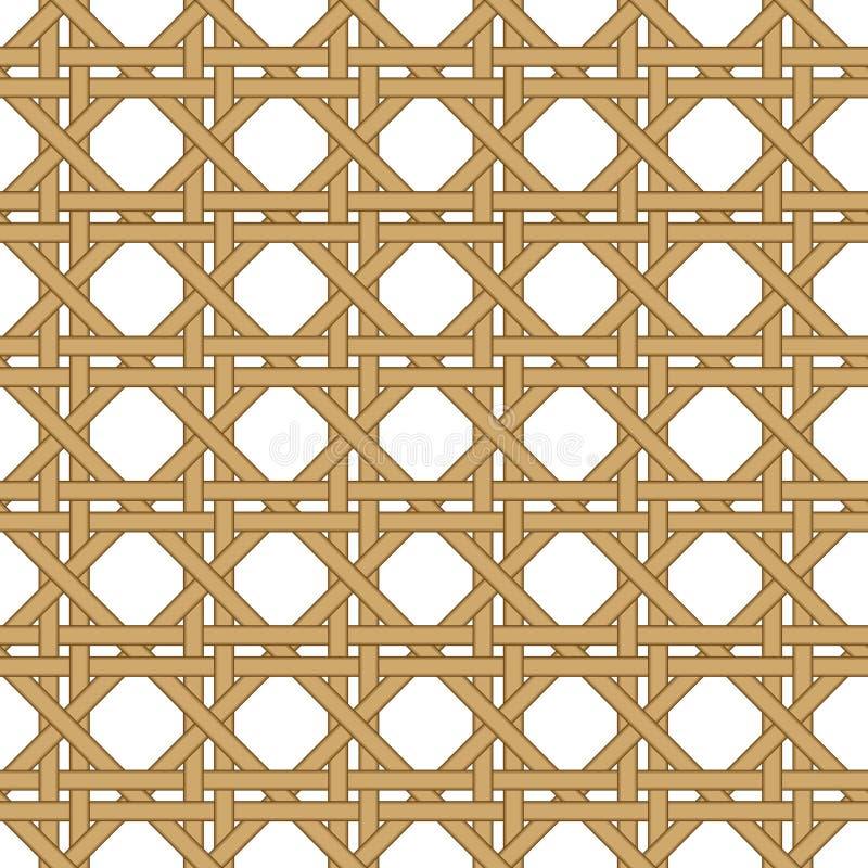 Fondo tejido mimbre inconsútil de la textura stock de ilustración