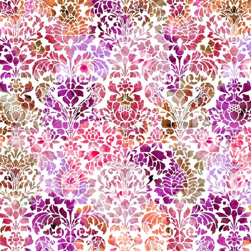 Fondo textured apenado en colores pastel del damasco imagen de archivo libre de regalías