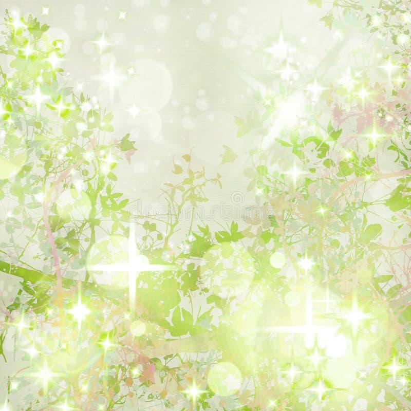 Fondo Textured arte brillante del jardín ilustración del vector