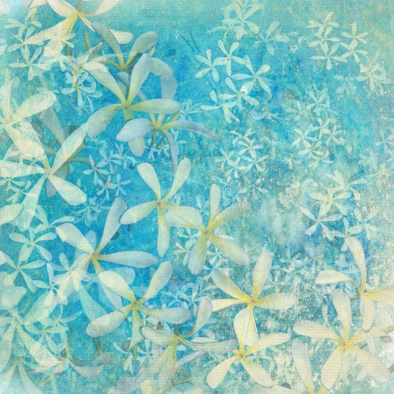 Fondo textured flor azul del arte que relucir stock de ilustración