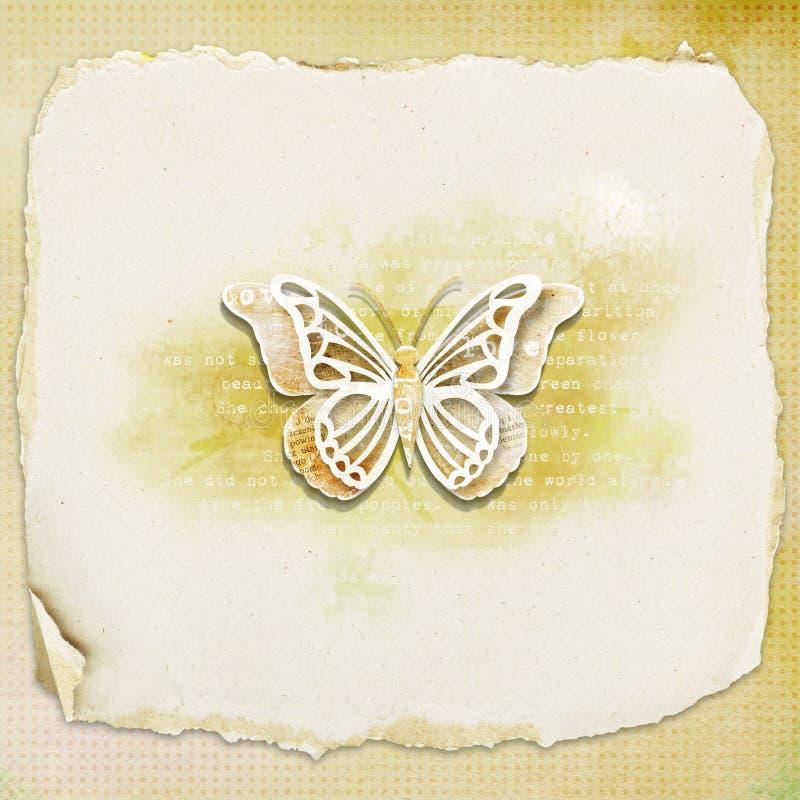 Fondo Textured - mariposa foto de archivo libre de regalías