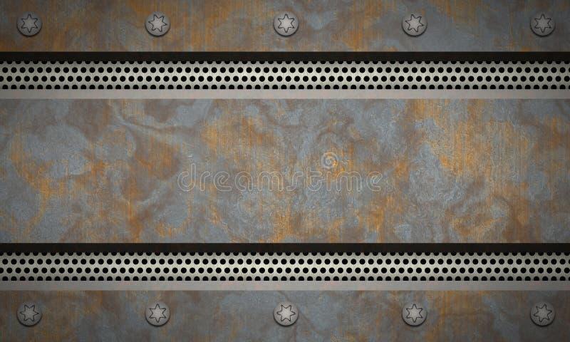 Fondo Textured metal Metal aherrumbrado stock de ilustración