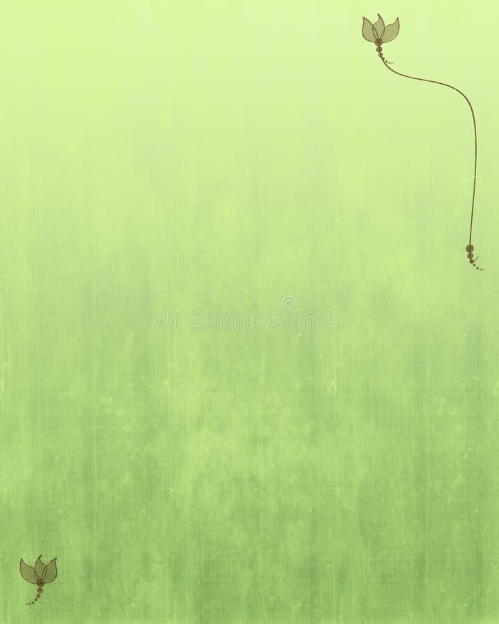 Fondo textured verde con diseño floral ilustración del vector