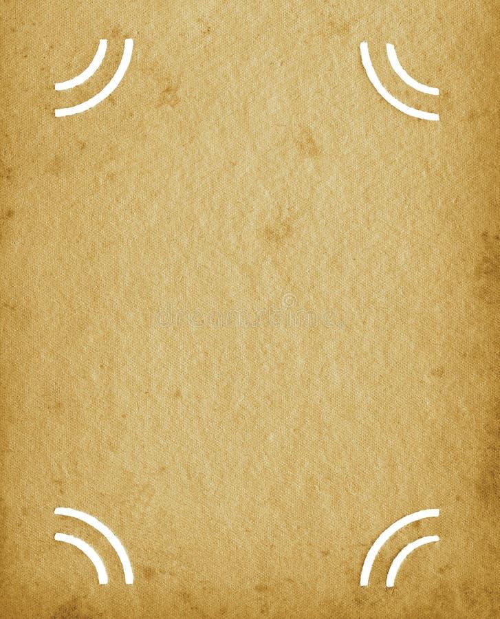 Fondo texturizado álbum vacío en blanco de la página del vintage del Grunge, vieja textura manchada envejecida, sepia beige de la foto de archivo libre de regalías