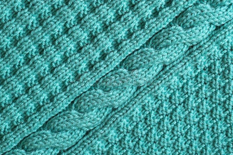 Fondo texturizado abstracto de hacer punto azul imagen de archivo
