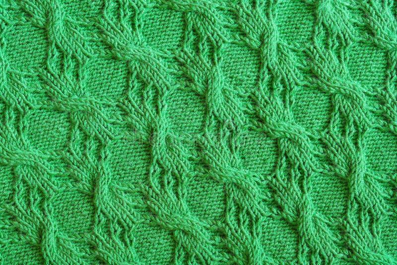 Fondo texturizado abstracto de hacer punto verde imagen de archivo libre de regalías