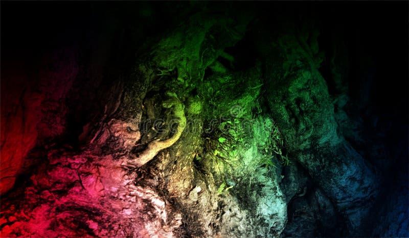 Fondo texturizado brillante sombreado multicolor del extracto con efectos luminosos Fondo, papel pintado imagen de archivo libre de regalías