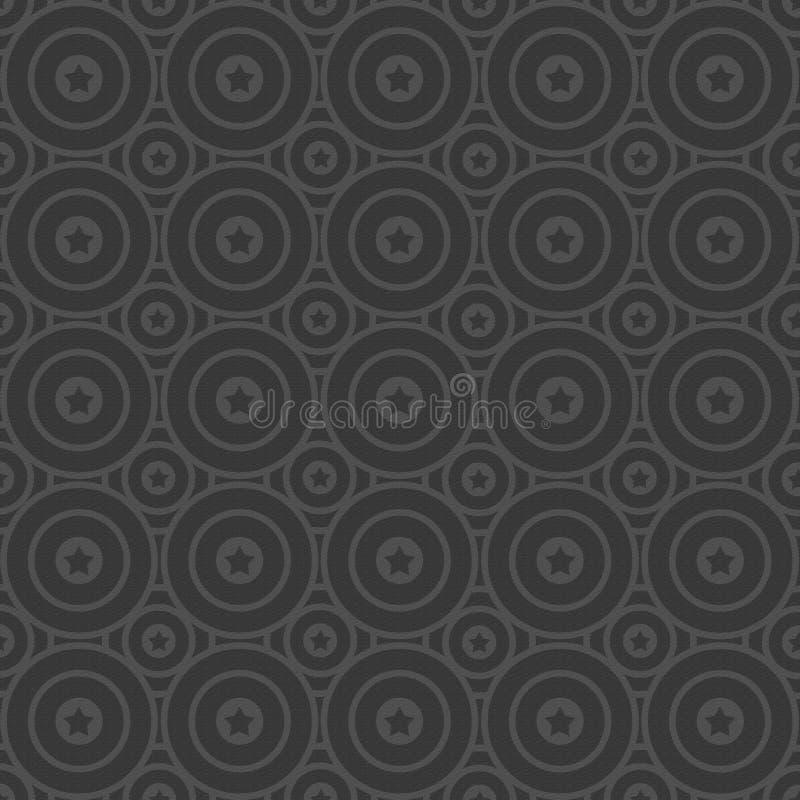 Fondo texturizado con los círculos y la estrella stock de ilustración