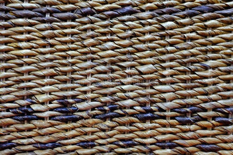 Fondo texturizado de una silla hecha a mano de bambú tejida foto de archivo libre de regalías
