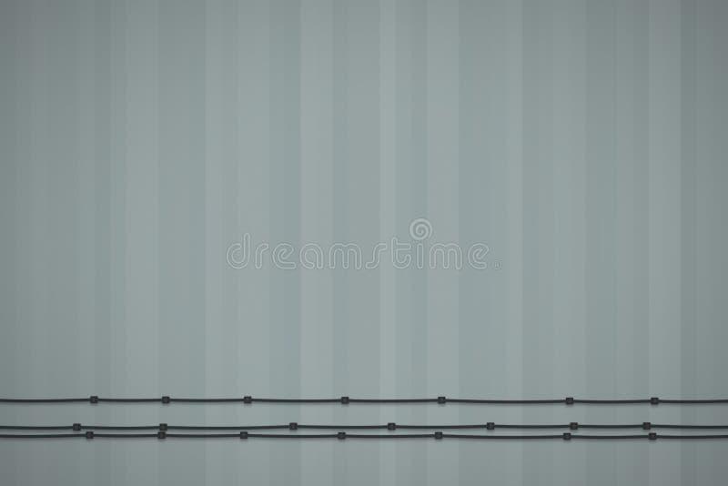 Fondo texturizado del grayscale Concepto mínimo Ejemplo plano de la endecha 3D stock de ilustración