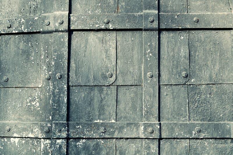 Fondo texturizado del vintage del metal con la superficie del grunge foto de archivo