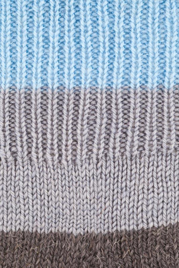 Fondo texturizado hecho punto lanas imagen de archivo libre de regalías