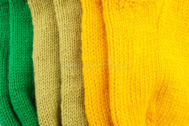 Fondo texturizado hecho punto lanas fotos de archivo