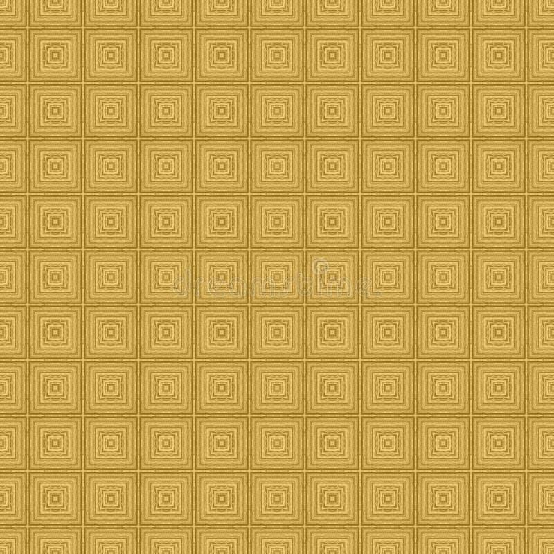 Fondo texturizado inconsútil detallado del modelo del cuadrado concéntrico del oro fotos de archivo libres de regalías