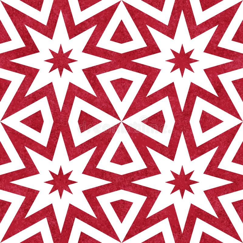 Fondo texturizado inconsútil geométrico del modelo del extracto rojo de la explosión ilustración del vector
