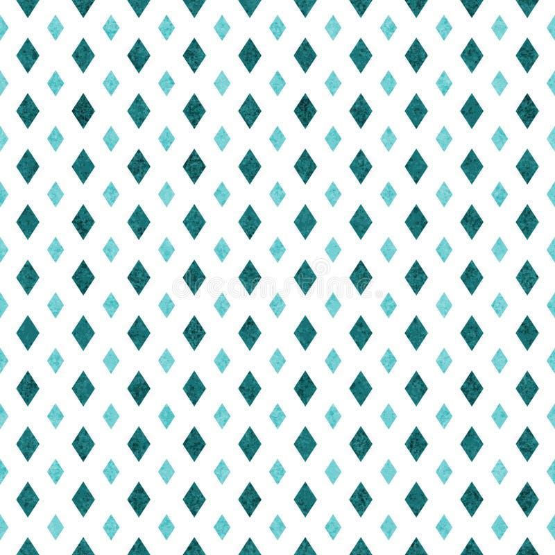Fondo texturizado inconsútil geométrico del modelo del trullo y del extracto blanco del diamante libre illustration