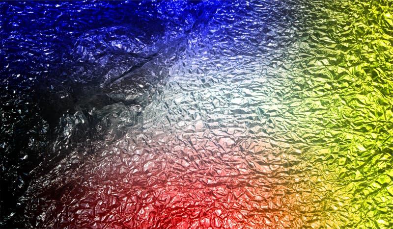 Fondo texturizado metálico brillante sombreado multicolor del extracto con efectos luminosos Fondo, papel pintado imagenes de archivo