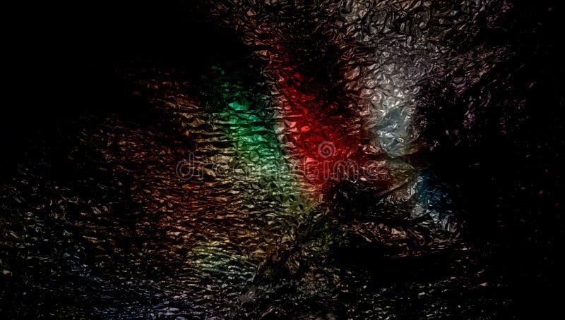 Fondo texturizado metálico sombreado multicolor del extracto con efectos luminosos wallpaper imagen de archivo