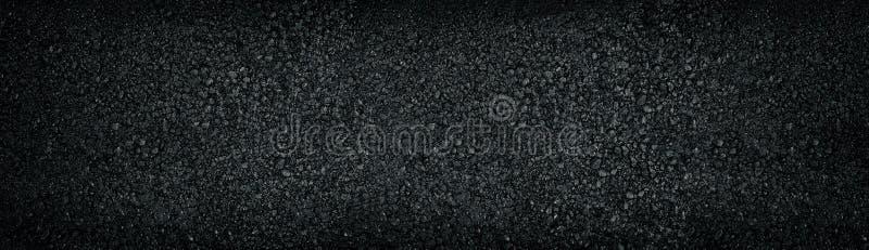 Fondo texturizado negro ancho Panorama superficial oscuro brillante brillante fotos de archivo