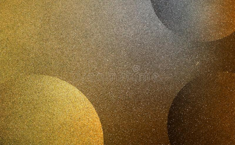 Fondo texturizado ondulado sombreado amarillo del extracto textura de papel del fondo del grunge Papel pintado del fondo stock de ilustración