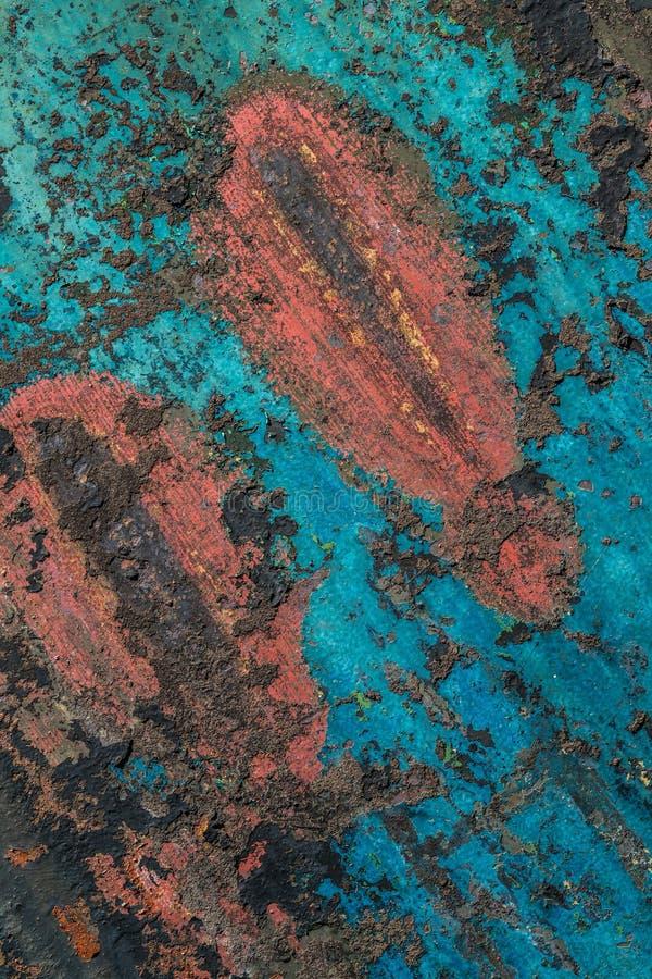 Fondo texturizado pared dilapidado colorido del grunge imagenes de archivo