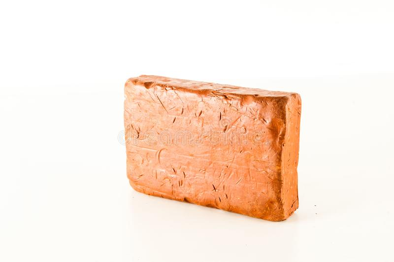 Fondo texturizado plasticine de Brown foto de archivo