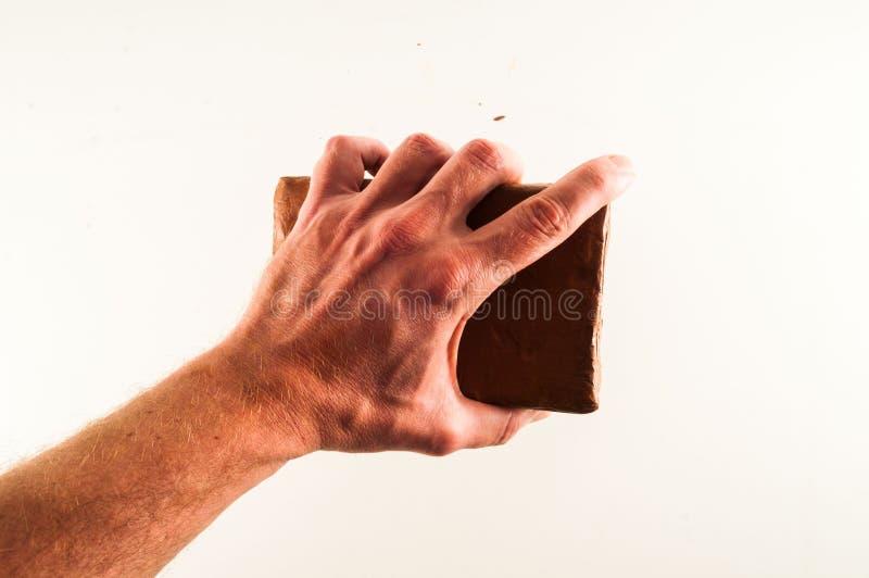 Fondo texturizado plasticine de Brown imagen de archivo libre de regalías