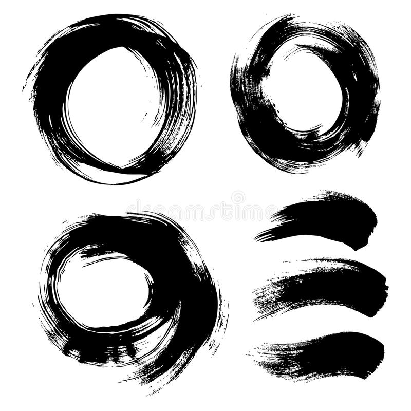 Fondo texturizado redondo pintado a mano libre illustration