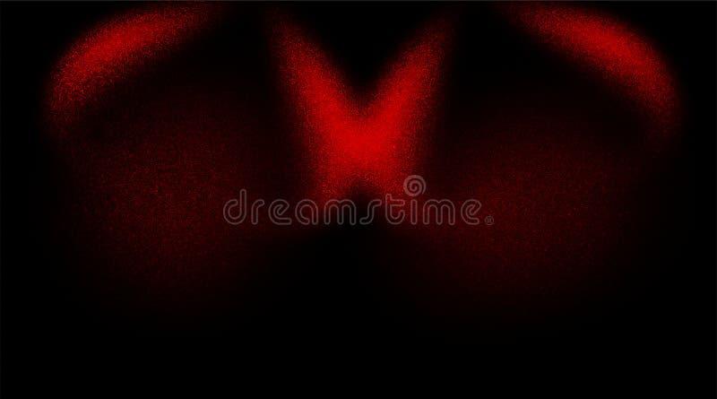Fondo texturizado sombreado rojo y negro abstracto textura de papel del fondo del grunge Papel pintado del fondo ilustración del vector