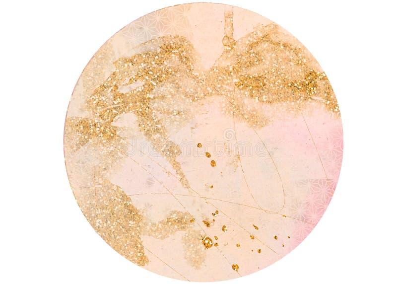 Fondo texturizado sucio rosado del círculo de la pendiente con el EFF del brillo stock de ilustración