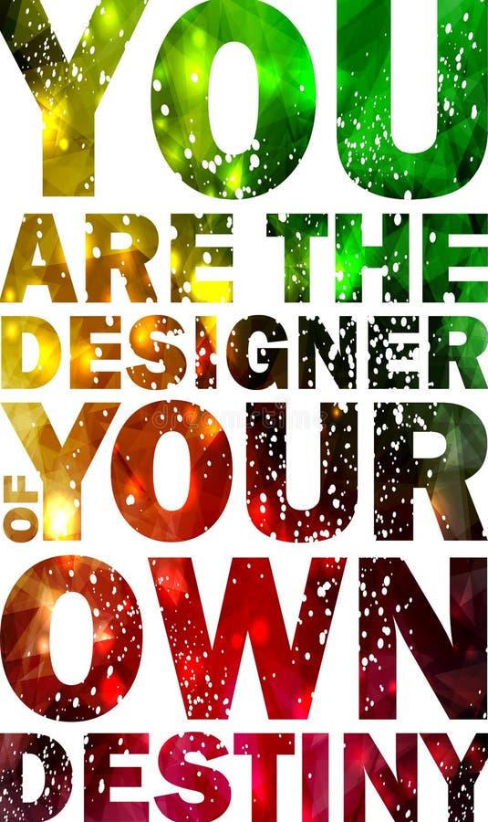 Fondo tipográfico de la cita, diseño del vector. stock de ilustración