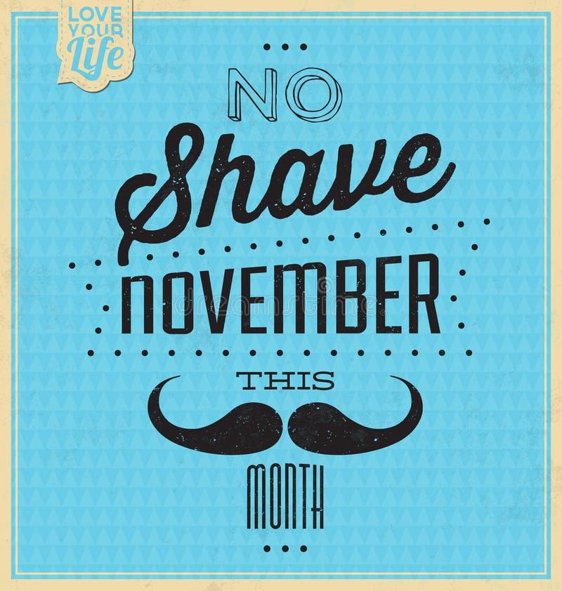 Fondo tipográfico de la cita/ningún afeitado noviembre stock de ilustración