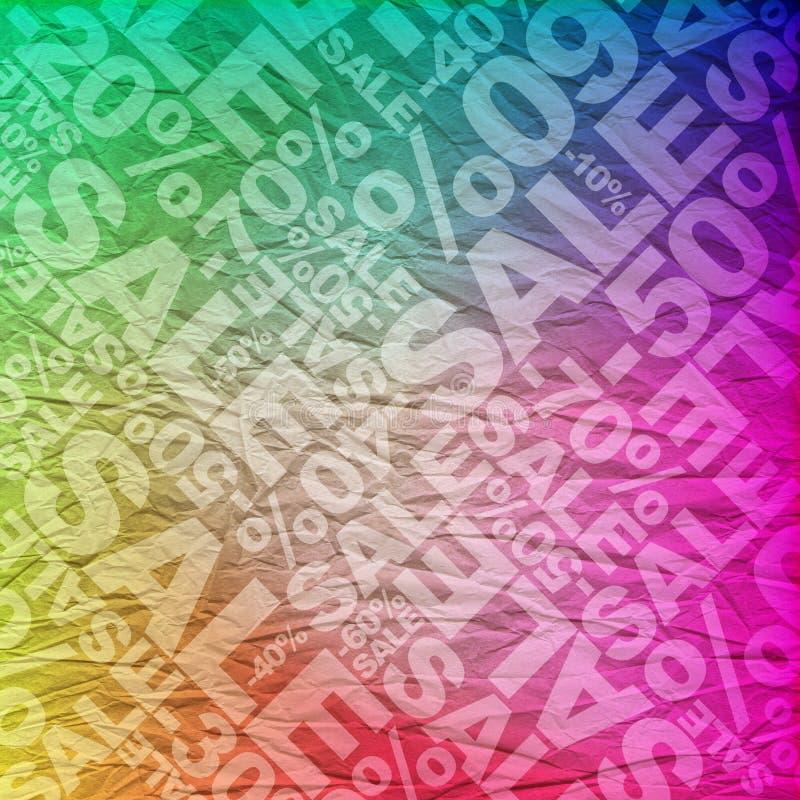 Fondo tipográfico de la venta ilustración del vector