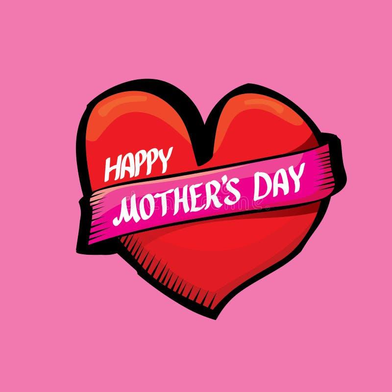 Fondo tipográfico feliz del día de madres ilustración del vector