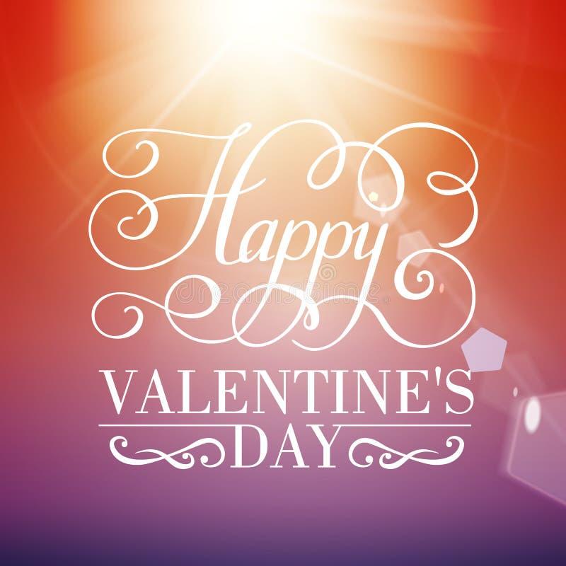 Fondo tipográfico feliz del día de tarjeta del día de San Valentín. stock de ilustración