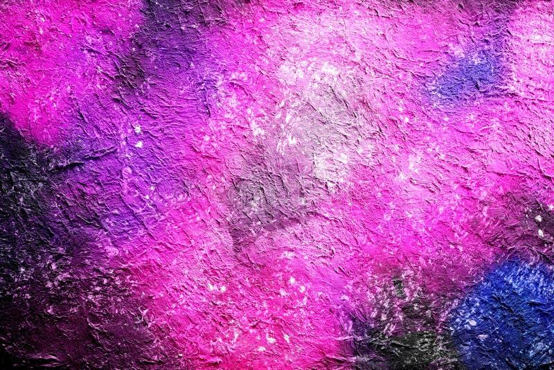 Fondo tirato dalla tecnica digitale della spazzola, carta da parati dell'acquerello della pittura astratta con struttura di color illustrazione vettoriale