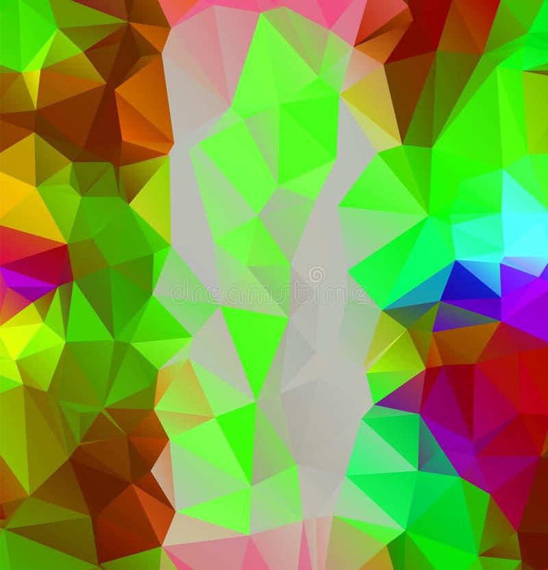 Fondo a todo color multicolor del arco iris del extracto Ilustrador poligonal del diseño del vector ilustración del vector