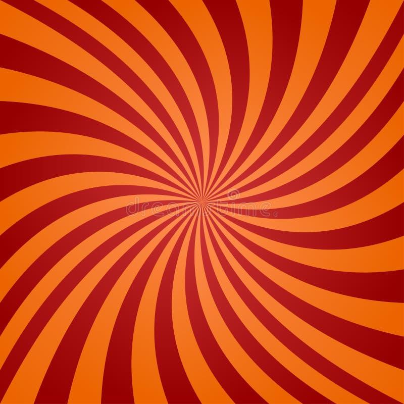 Fondo torcido anaranjado rojo stock de ilustración