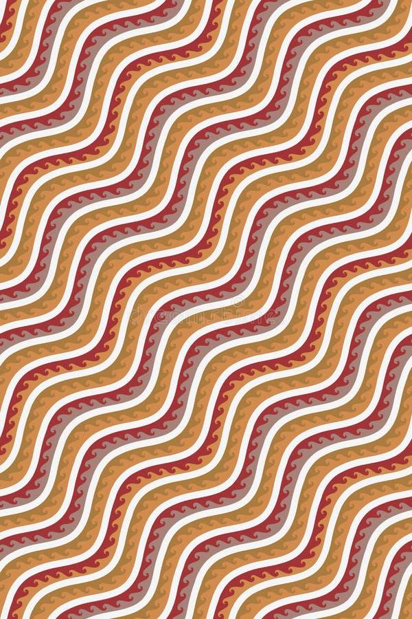 Fondo tradicional colorido inconsútil de la onda ilustración del vector