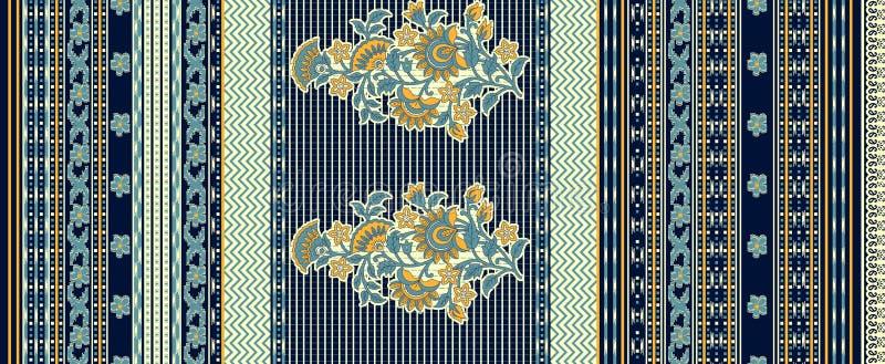Fondo tradicional inconsútil del diseño floral ilustración del vector